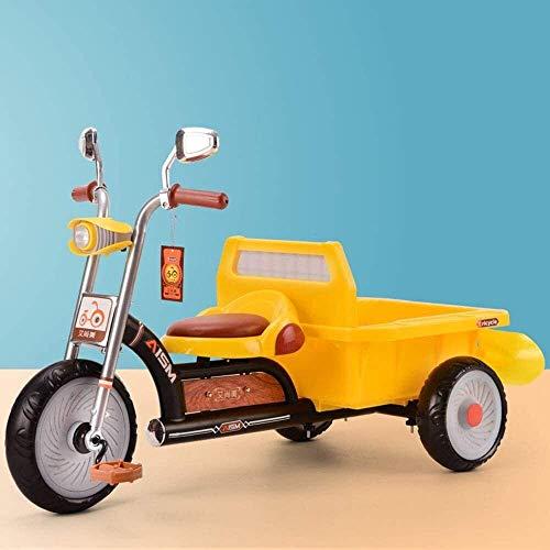 New Baby Push Trike, triciclo para niños con cubo trasero, bicicleta de pedales con luces y música, juguetes de jardín de infantes, bicicleta de equilibrio con pala, carga segura 100 kg, color
