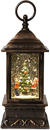SA Products Christmas Glitter Water Spinner Lantern -...