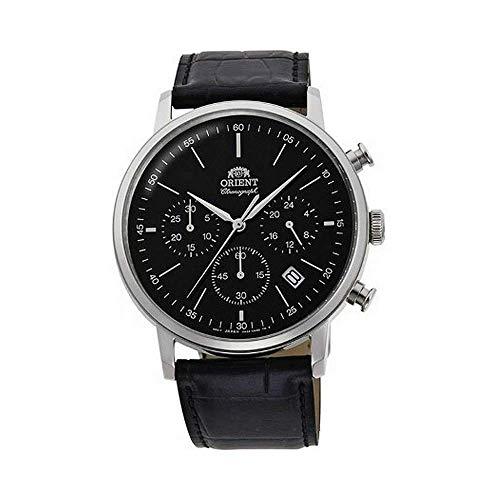 Orient Herren Analog Japanisches Quarzwerk Uhr mit Leder Armband RA-KV0404B10B