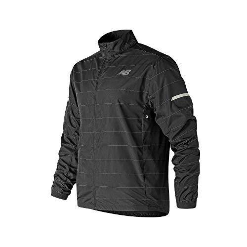 New Balance Herren CORTAVIENTOS Reflective PACKJACKET Sweatshirt, schwarz, L