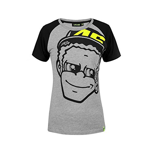 Valentino Rossi Vrwts307605005 - Camiseta de Manga Corta para Mujer, Color Gris, Talla XS, 78 cm