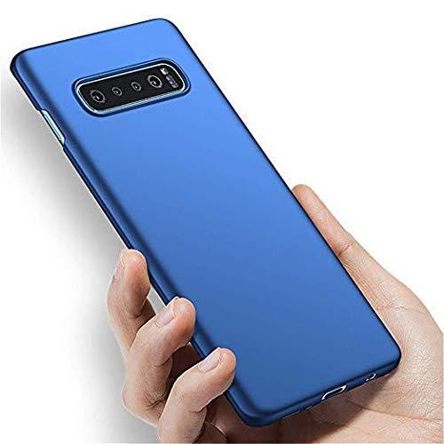 Capa Capinha Protetora Para Galaxy S10 Plus Tela De 6.4 Polegadas Case Acrílica Fosca Ultra Fina, Luxuosa Premium Super Diferente - Danet (Azul)