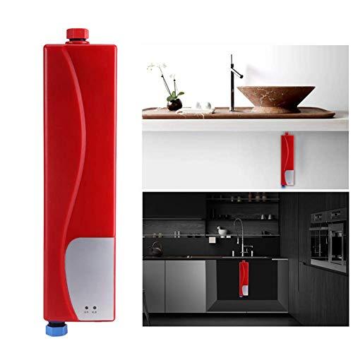 Rziioo Mini-Warmwasserbereiter, 220V 3000W Elektro-Durchlauferhitzer Tankless Dusche Warmwasserversorgung für Badezimmer Küche Wasch