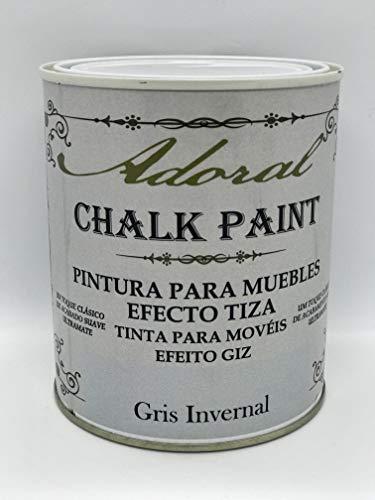 Adoral - Chalk Paint Pintura para muebles Efecto Tiza 750 ml (Gris Invernal)