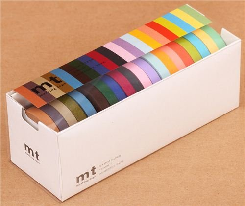 Set 20 nastri adesivi decorativi Washi mt sottili