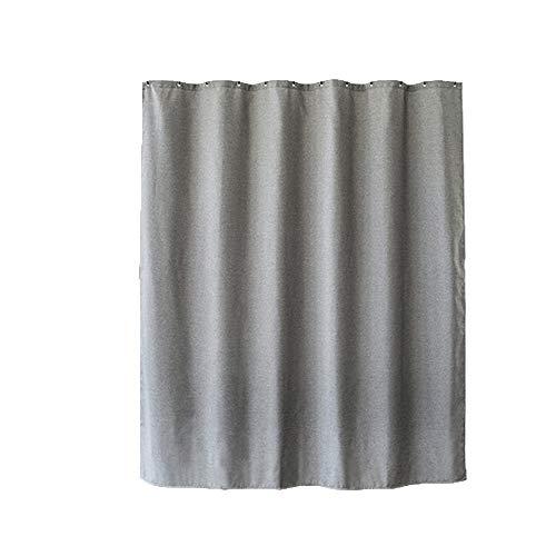 Shower Curtains Duschvorhang Wasserdichten Mehltau Toilette Vorhang mit Trennwand Bad Verdickung drapieren (Color : Gray)