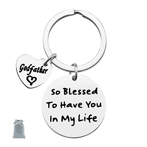 Godfather Keychain to Have You in My Life Keychain Godparent Gifts from Godchild Baptism Gift Christening Gift for Godfather Baptism Jewelry