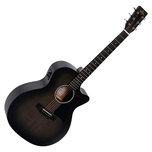 Sigma ST Series GMC-STE-BKB+ Electro-Acoustic Guitar - Blackburst Finish