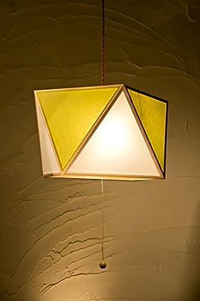 日本製和風ペンダントライト AP817-3-F 彩 -sai L- 3灯タイプ 白×萌葱