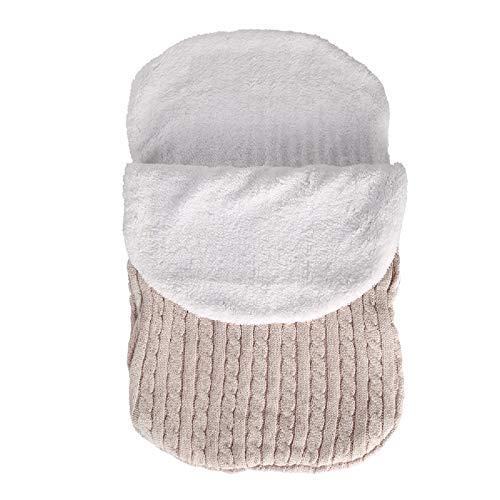 DaMohony Bebé Manta Envoltura Cochecito de Bebé de Punto Grueso de Ganchillo Envoltura Envoltura de Lana Manta de Abrigo Cálido Saco de Dormir