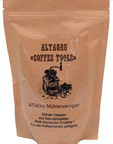 AlTaGru Mühlenreiniger 500g Packung zur schonenden Reinigung der Kaffeemühle auf Naturbasis - entfetten der Mahlscheiben - Neue Rezeptur zur Staubminderung