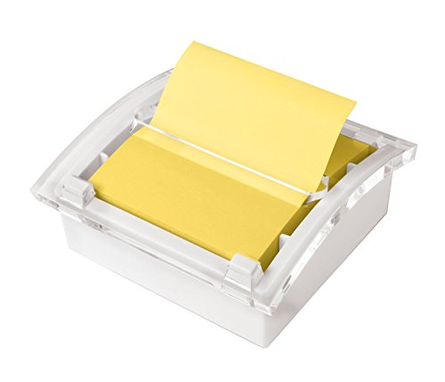 Post-it Pop-up Notes Dispenser, 3 in x 3 in, White Base Clear Top (DS330-WH)