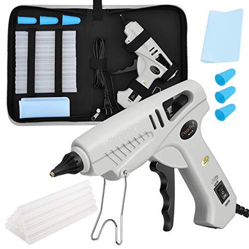Magicfly Pistola de Silicona Caliente para Manualidades 60W/100W Poder Dual, 15PCS Barras de Pegamento, Kit de Pistolas de Encolar Profesional para Reparaciones, DIY, Decoración del Festival,