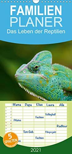Das Leben der Reptilien - Familienplaner hoch (Wandkalender 2021, 21 cm x 45 cm, hoch)