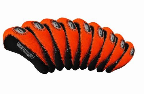 Longridge Golf Zubehör Eze Eisen Abdeckungen 10ST 4SW + GW, Schwarz/Orange