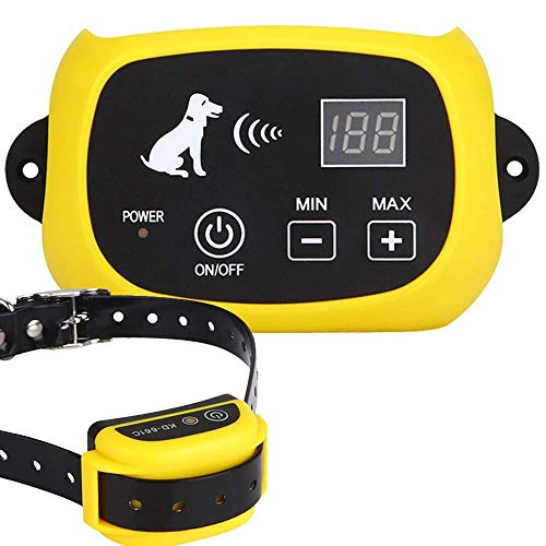 YHPOYLP Wireless Dog Fence System ,Outdoor Electric Pet Containment System, Rechargeable &...
