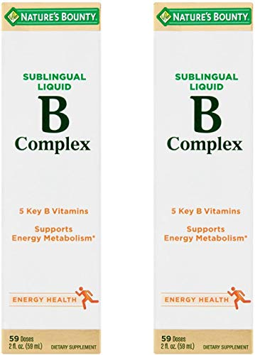 Nature's Bounty Vitamin B Complex sublingual Liquid, 2 Oz (Pack of 2)
