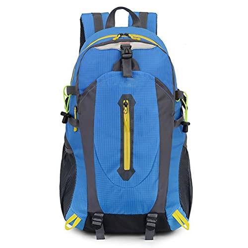 KIUY Mochila de Senderismo 40L, Mochila de Senderismo Impermeable con Funda para Lluvia, para Camping Montañismo Caminar Ciclismo Escalada,Azul