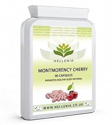 Hellenia Montmorency Cherry 750mg - 90 Capsules - Powerful Antioxidant