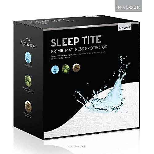 MALOUF Dormir Tite hipoalergénico 100% Protector- de colchón Impermeable...