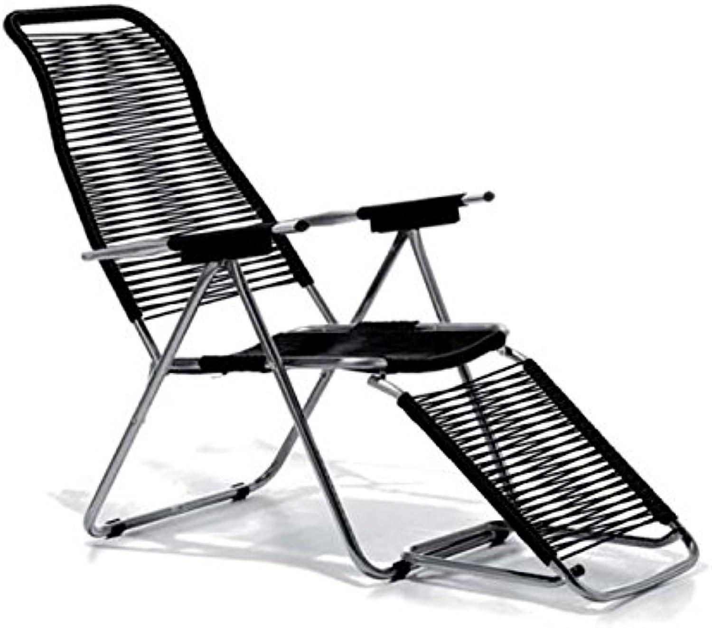 Jan Kurtz, Spaghetti Chair Sonnen Liegestuhl mit Futeil fiam schwarz