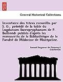 Guichenon, S: Inventaire des titres recueillis par S. G., pr