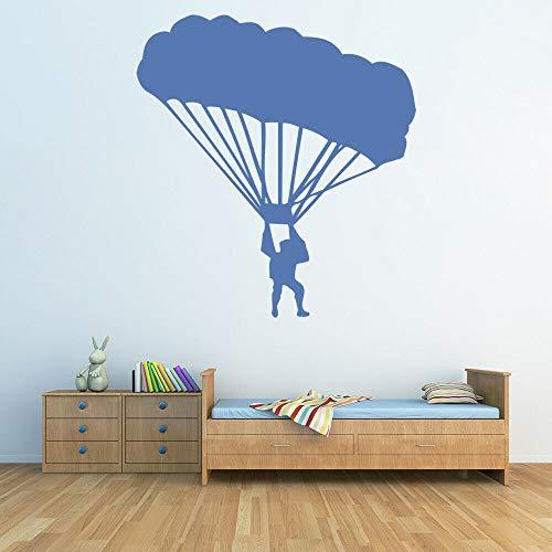 Geiqianjiumai Fototapete Kindergarten Kinderzimmer Fallschirm Vinylwand Junge Schlafzimmer Wohnzimmer blau 42x45cm