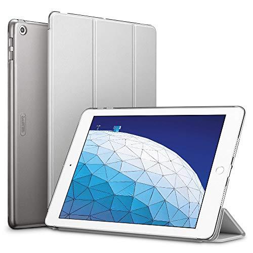 ESR Hülle kompatibel mit iPad Air 3 2019 10.5 Zoll - Ultra Dünnes Smart Hülle Cover mit Auto Schlaf-/Aufwachfunktion - Kratzfeste Schutzhülle für iPad Air 3th Generation - Grau