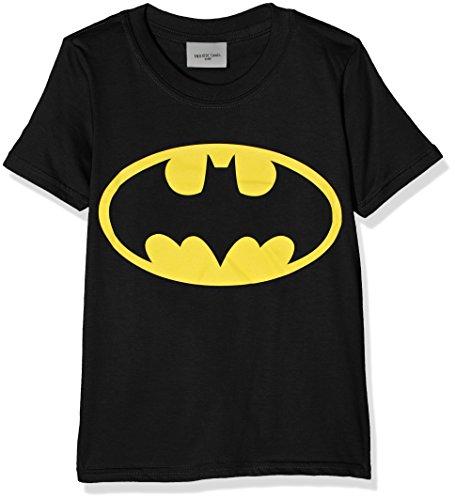 DC Comics Batman Logo Camiseta, Negro (Black), 5-6 años (Talla del Fabricante: 5-6 Years) para Niñas