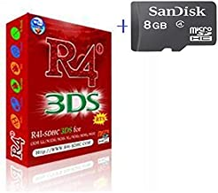 Free Delivery R4I RTS+8GB memory sd card for NDSL 3DSLL