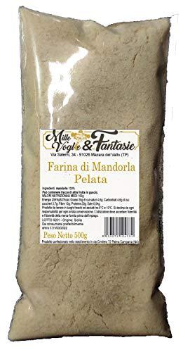 Farina di Mandorle pelate realizzata da mandorle SICILIA - Italiane 100% Mandorle Macinate 500 GR