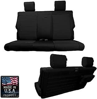 Bartact BTJKSC2013R2BB - 2013-2017 Jeep Wrangler JK 2-Door - Black/Black Mil-Spec with MOLLE System Rear Bench Seat Covers