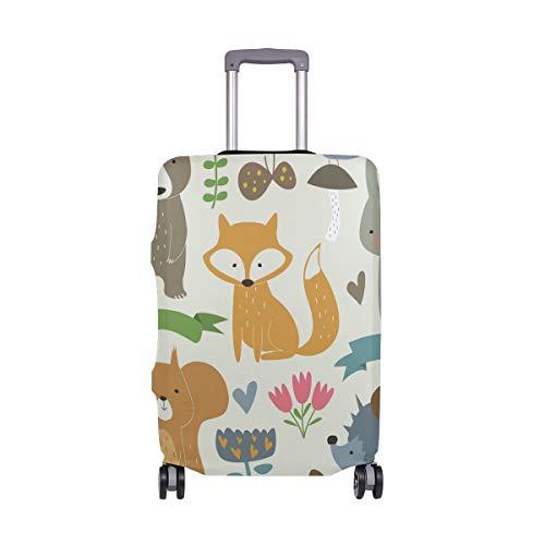 Orediy - Funda para maleta de viaje, elástica, diseño de animales del bosque, sin maleta, talla S, M, L, XL, multicolor (Multicolor) - suitcasecover