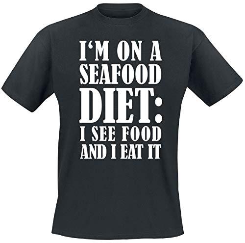 I'm On A Seafood Diet Männer T-Shirt schwarz XL