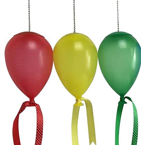 """Solar Hängeleuchte """"Luftballon"""" 3er Set Dekoration Gartenparty Deko Beleuchtung"""