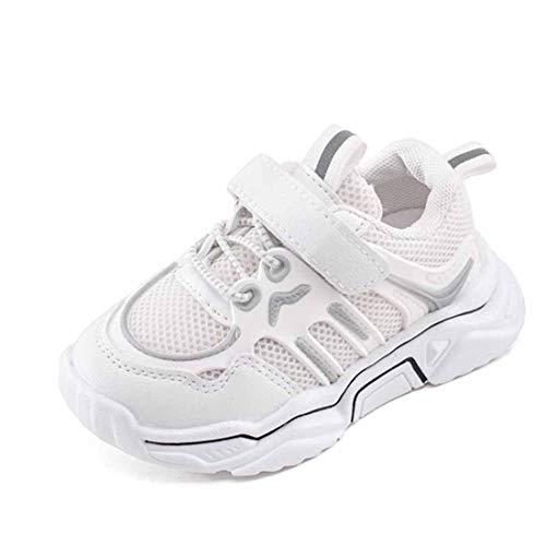 Daclay Kinder Jungen und Mädchen Schuhe Sportschuhe Atmungsaktive Turnschuhe Sportschuhe (23 EU,White)
