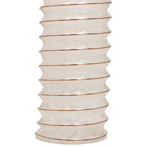 AWM Absaugschlauch transparent 0,4 mm Absauganlage Spiralschlauch schwer entflammbar Flexschlauch - METERWARE (100 mm)
