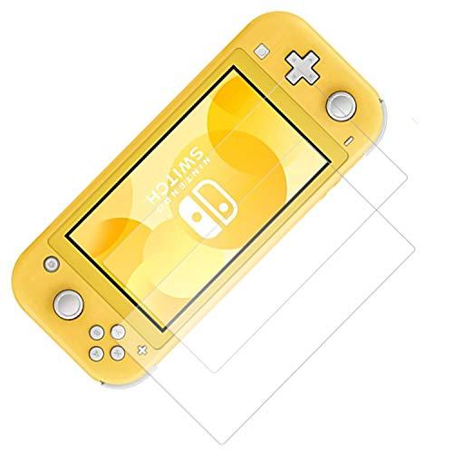 【2枚セット】For Nintendo Switch Lite 用 ガラスフィルム 強化ガラス 旭硝子製 FOR Switch Lite フィルム 硬度9H 飛散防止 指紋防止 自動吸着 気泡防止 液晶保護フィルム
