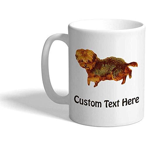 Taza de café personalizada 330 ml Terrier Vintage Look Taza de té de cerámica Texto personalizado