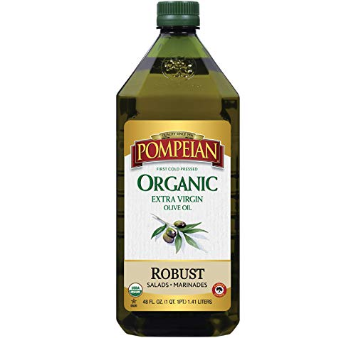 Pompeian USDA Organic Extra Virgin Olive Oil, First Cold Pressed, Full-Bodied Flavor, Perfect for...