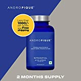 ANDROPIQUE – 2 Month Supply (60 servings) Clinically Proven Natural Testosterone Booster, Increases