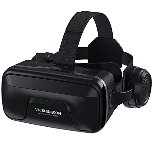 WXHXSRJ Gafas 3D VR, Auriculares de Realidad Virtual, compatibles con teléfonos Inteligentes de 4.7'-6.0', para películas en 3D, Gafas de Videojuegos, Regalo para niños y Adultos