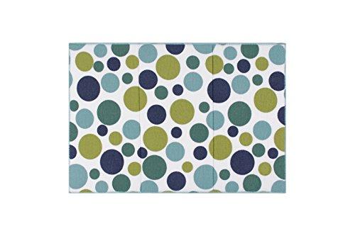 Ritz Polka Dot Reversible Absorbent Microfiber Dish Drying Mat, 21-inch by 14-inch, Ocean Blue