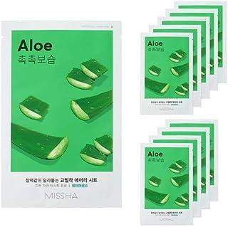 MISSHA Airy Fit Sheet Mask 10pcs of Single Type (Aloe)