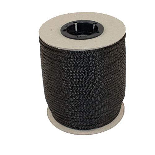 Unbekannt PPM Flechtleine 2,0mm - 100mtr Rolle in vielen Farben (schwarz) / Seil, Tauwerk, Leine