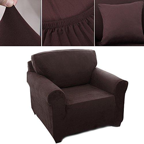 1 Sitzer Sofabezug Sesselbezug Elastisch Verfügbar In Verschiedenen Größen Schokoladenbraun