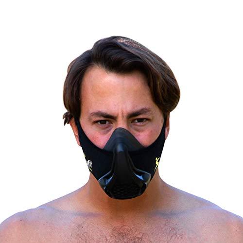 Solofit Training Mask – Workout Fitness Bane Mask for Running, Cardio, Breathing, Gym, Endurance, MMA, High Altitude & Exercise for Men & Women – Twenty Four Resistance Levels - Low Oxygen Breathing