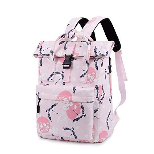 Casual rugzak voor dames, reis-rugzak, schooltas voor jongeren, schoudertas voor meisjes, yellow (Roze) - wwttoo 16/8-57