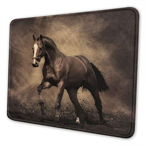 Horse Gaming Mouse Pad for Wireless Mouse,Mousepad Square Non Slip Laptop Cute Cheap Mouse Mat for Women Travel Portable Running Horse