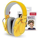 Alpine Muffy Protectores de Oído para Niños - Cascos Antiruido para niños de hasta 16 años - Cascos de Insonorización diseñados niños - Cómoda protección auditiva - sujeción ajustable - Amarillo